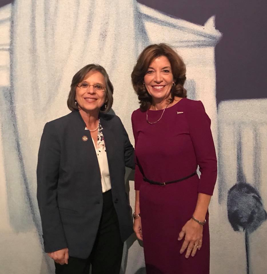 November 5, 2017 – Lieutenant Governor Kathy Hochul and Assemblywoman Lupardo at a ceremony honoring the 100th anniversary of women's suffrage in NYS.
