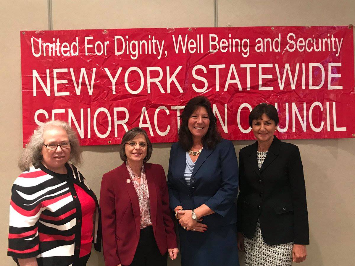 October 11, 2017 – Assemblywoman Lupardo, Chair of the Assembly Committee on Aging, Senator Serino, Chair of the Senate Aging Committee, at the Statewide Senior Action Council Conference.