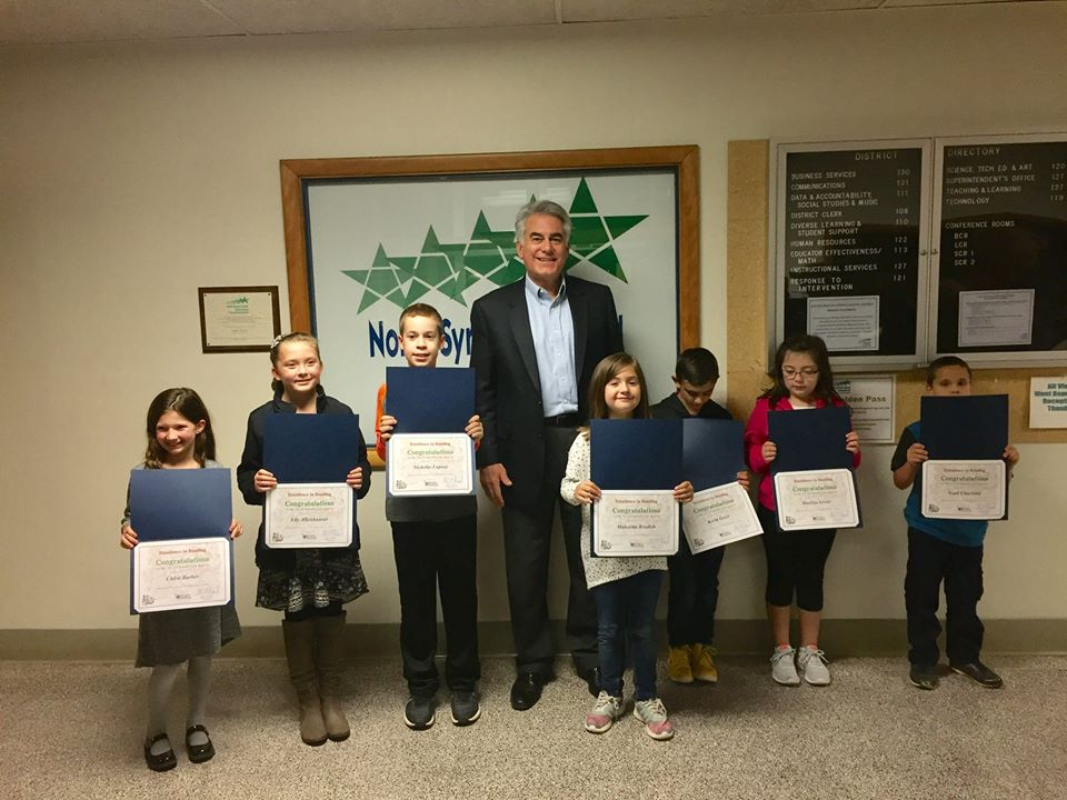 Assemblyman Al Stirpe celebrates student participation during the 2017 Summer Reading Challenge award ceremony