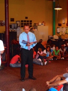 Assemblymember Bronson visited the North East Development Freedom School, which runs a terrific summer educational and reading program for kids in Rochester. Assemblymember Bronson had a great time being their guest reader and answering questions about government and politics.