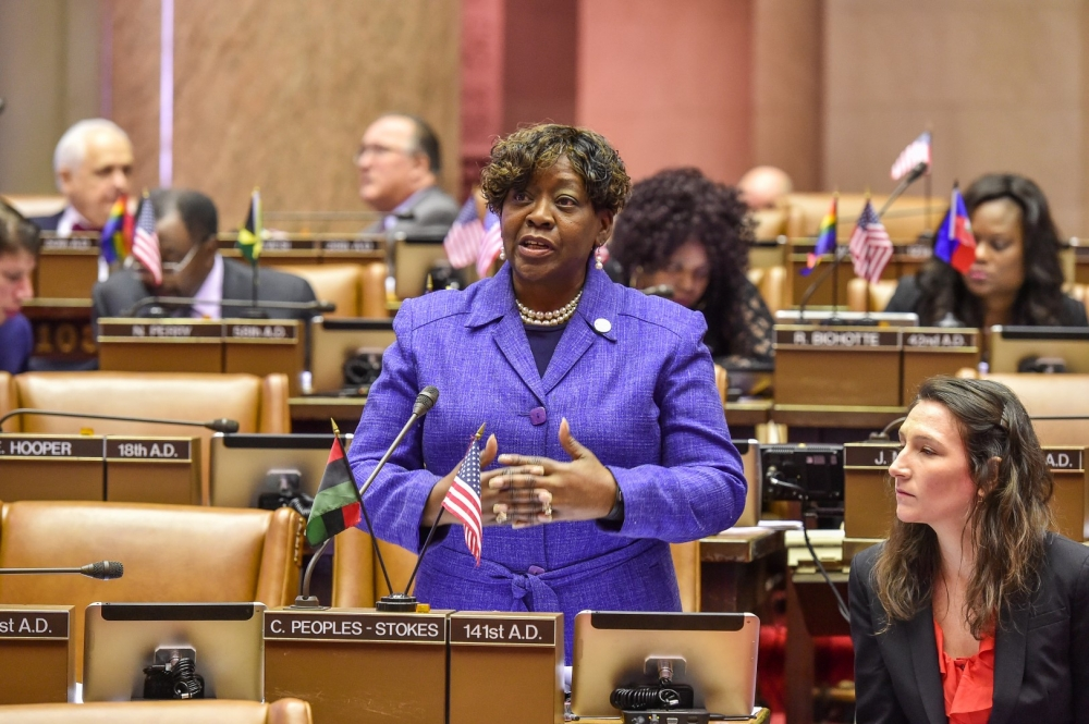 February 14, 2017 – Assemblymember Crystal Peoples-Stokes, while speaking on Bill A-2142, which would seal records for certain marijuana possession charges that terminate in favor of the accused.